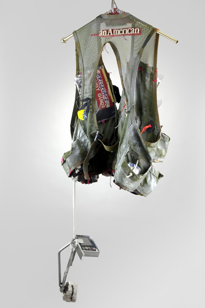 JJ PEET, BRICKVACEVEST, 2015. Mixed media, 46 x 18 x 8 inches.